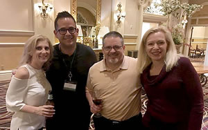 Mary (right) with (from left) Angelique Rewers, CEO of The Corporate Agent, Pete Vargas, CEO of Expand Your Reach, and Phil Dyer, EVP The Corporate Agent at a recent event.